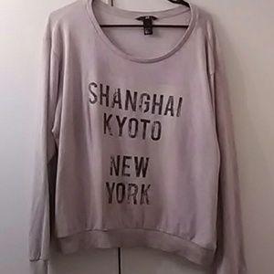 🆕 light pink sweatshirt size L preowned
